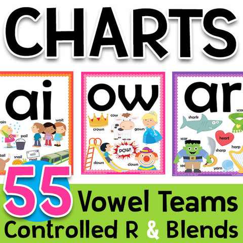 Classroom Charts with Vowels & Controlled R