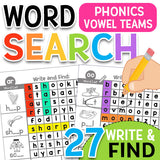 Word Search Phonics with Vowels & Controlled R