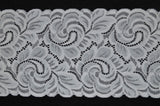 "6"" Double Scallop Lace (black or white)"