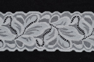 "2.75"" Double Scallop Lace (black or white)"