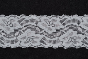 "2"" Nylon Double Scallop Lace (black or white)"