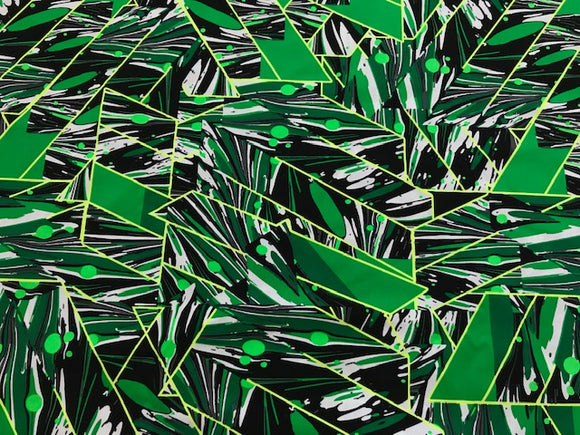 Green Abstract Swimsuit Fabric