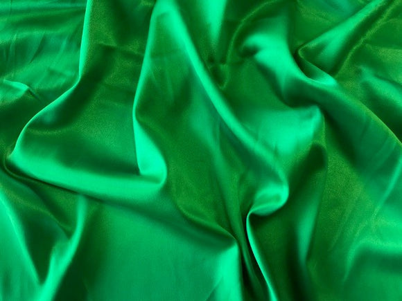 Flag Green Stretch Satin