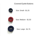 Covered Eyelet Buttons