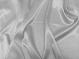 Silver Stretch Satin