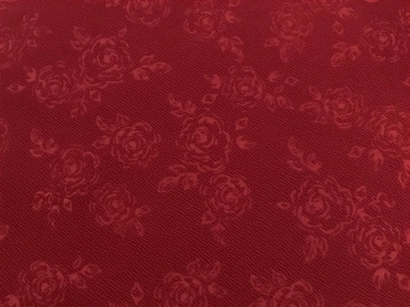 Burgundy Rose Embossed Liverpool