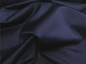 Navy Stretch Satin