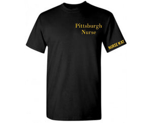 Unisex Pittsburgh Nurse T-Shirt -Left Chest Logo