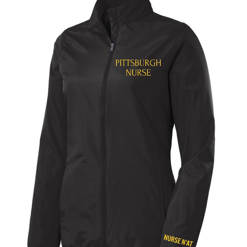 Pittsburgh Nurse Full-Zip Rain Jacket