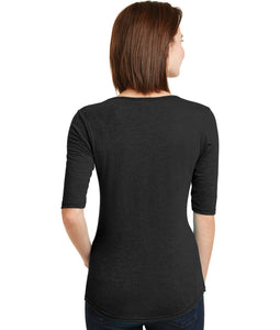 Pittsburgh Nurse Deep Scoop Neck, 1/2 Sleeves
