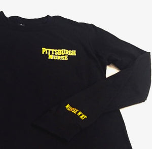 Unisex Pittsburgh Nurse Long Sleeve Shirt