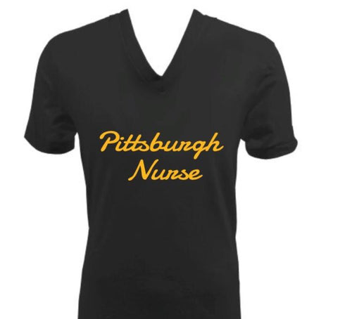 Pittsburgh Nurse V-Neck Shirt