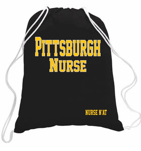 Pittsburgh Nurse Drawstring Bag