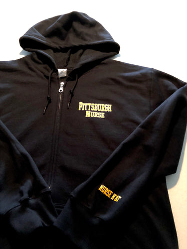 Unisex Pittsburgh Nurse Zip-Up Hoodie
