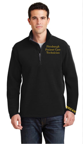 Men's Pittsburgh Patient Care Technician Half -Zip Fleece