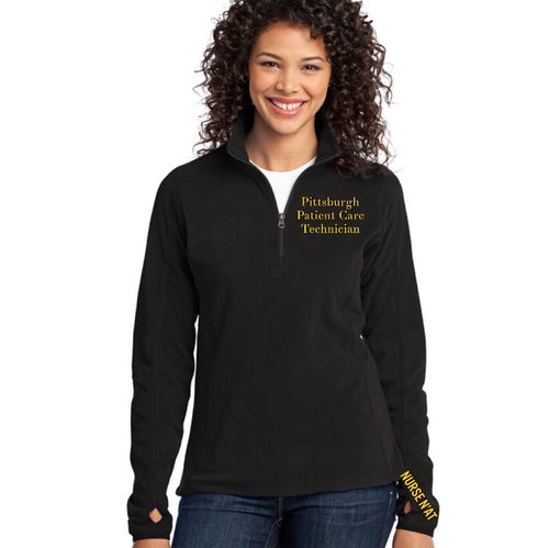 Women's Pittsburgh Patient Care Technician Half-Zip Fleece