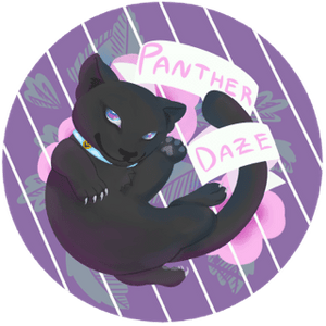 Cute x Kinky Panther Sticker - Panther Daze Designs