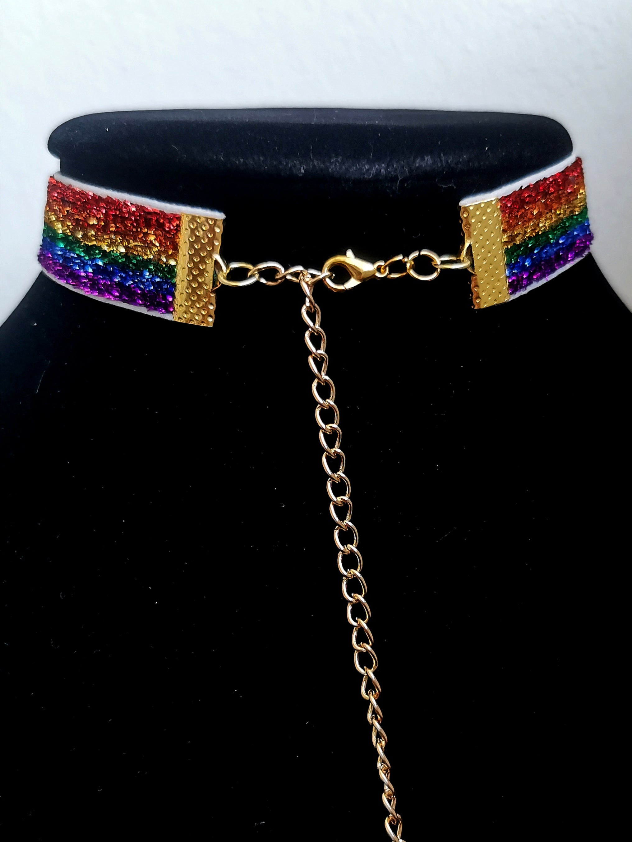 Rainbow Choker - Panther Daze Designs