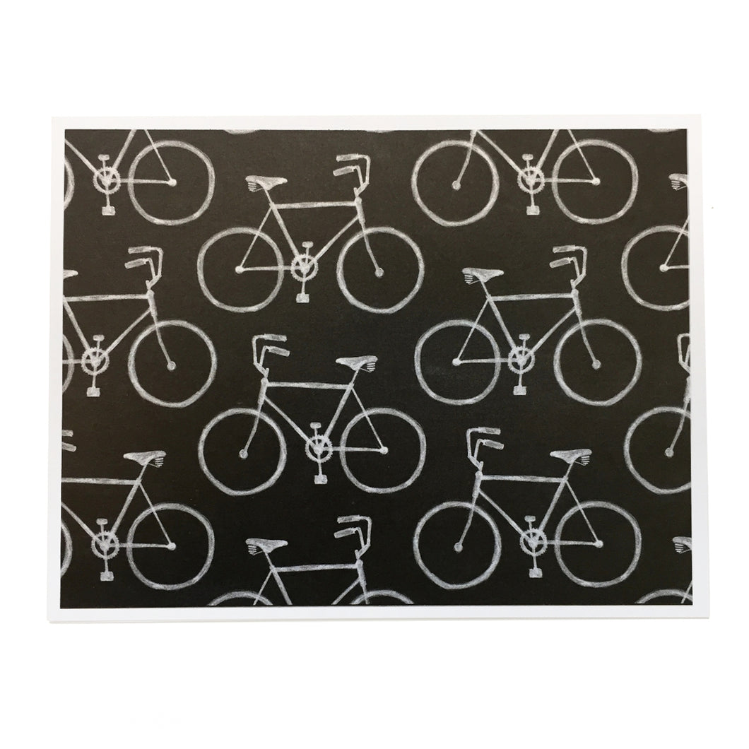 Chalkboard Bicycle Cards (Set of 2)