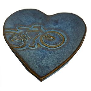 Ceramic Heart-Shaped Bicycle Dish