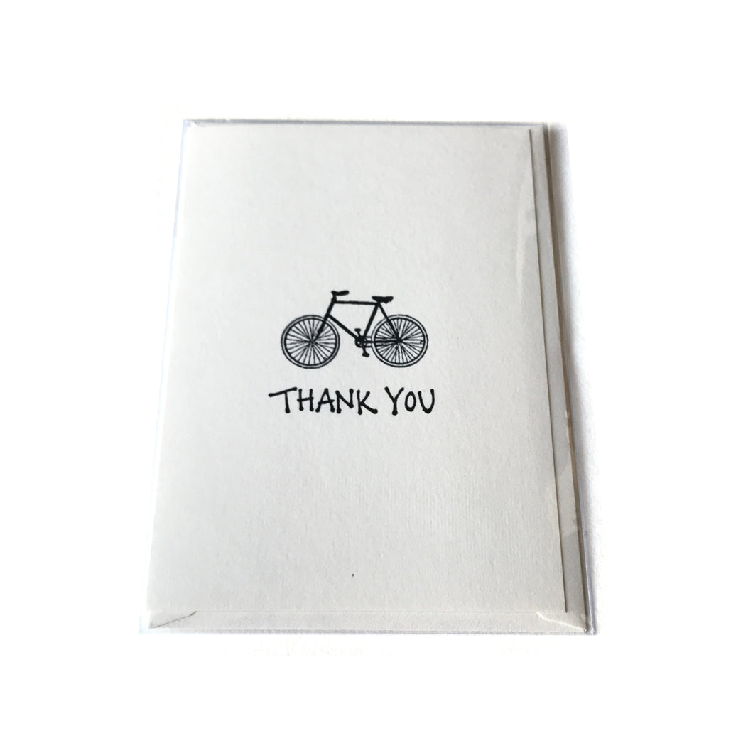 Thank You Bicycle Card