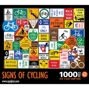 Signs Of Cycling Bike Jigsaw Puzzle, 1,000 Pieces