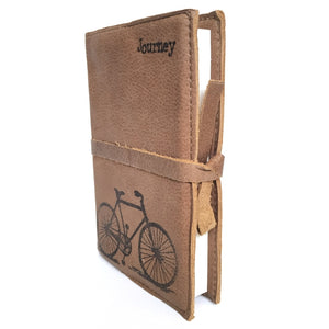Leather Bicycle Journal, Journey (Taupe)