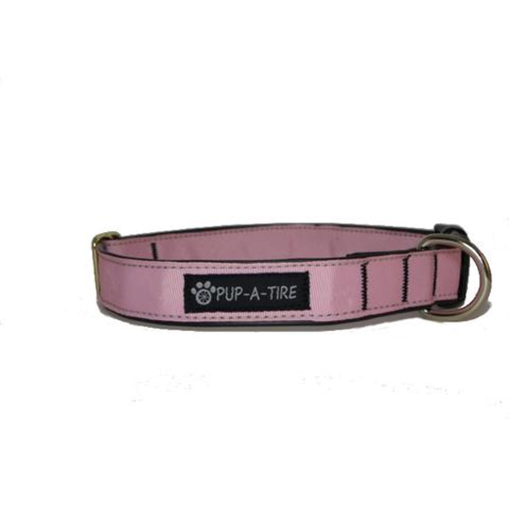 Pink Dog Collar - Made With Recycled Bike Tubes - Small