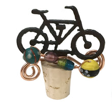 Wine Bottle Cork Stopper, Bicycle