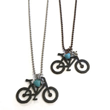 Rustic Metal Bike Love Necklace