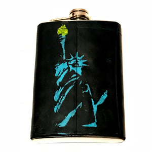 Recycled and Painted Bicycle Innertube Flask