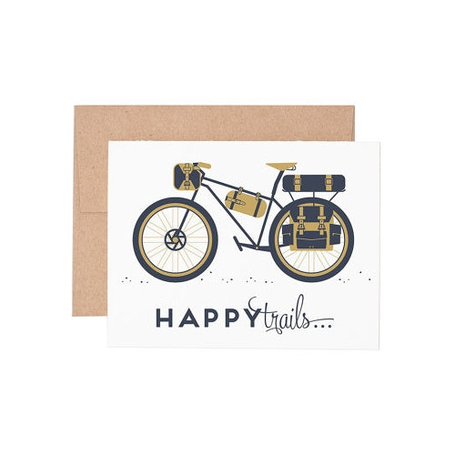 Happy Trails Bicycle Greeting Card