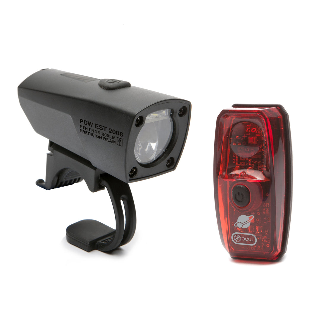 Portland Design Works Pathfinder Head Light / Io Tail Light Combo Set
