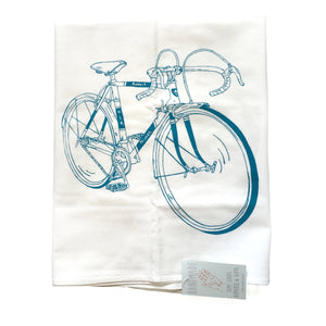 Flour Sack Towel, Bike Print