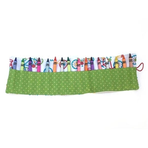 Crayon Roll Up Holder, Bike Print