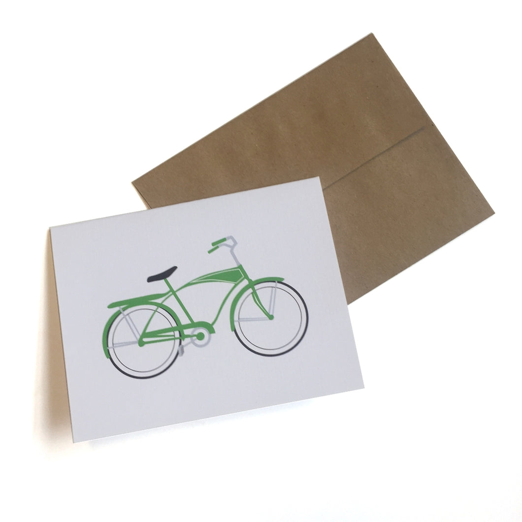 Cruiser Bike Cards and Envelopes, Set of 6