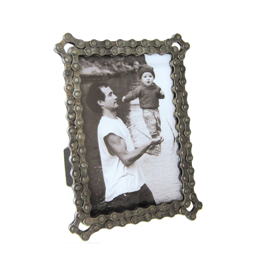 Bike Chain Photo Frame, 4 x 6