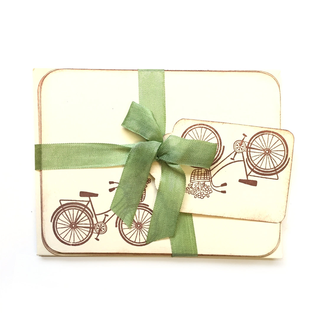 Vintage Bicycle Note Cards & Envelopes (Set of 8)