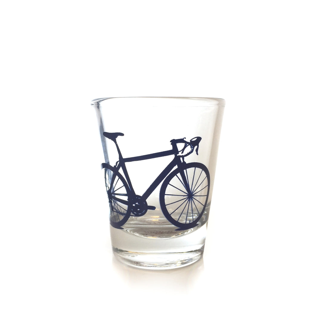 Shot Glass with Bicycle Screenprint