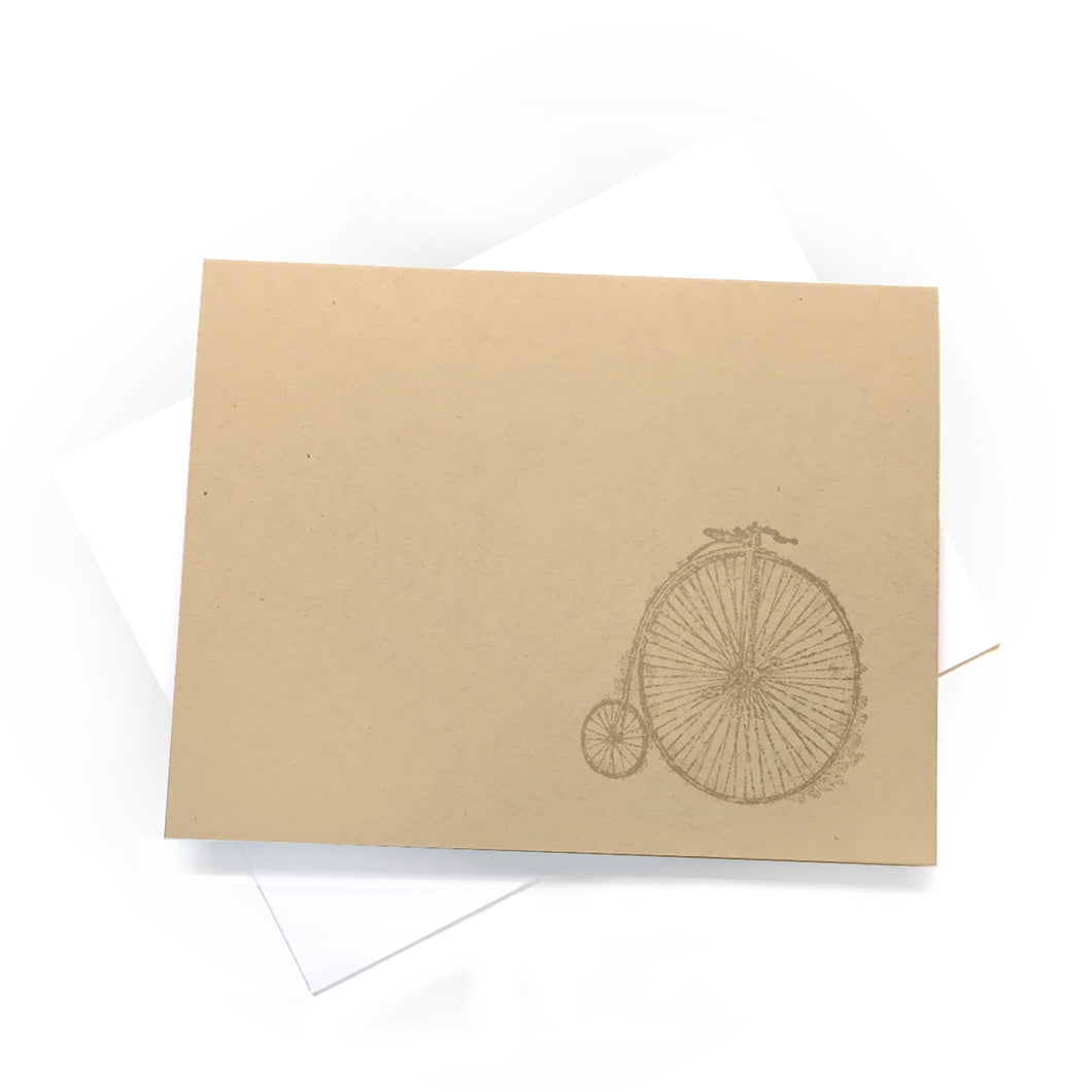 Penny-farthing Bicycle Cards (Set of 2)