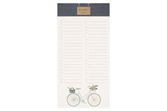 Cruiser Bike Market List Notepad