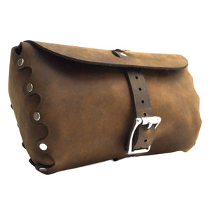 Leather Bicycle Handlebar Bag - Small