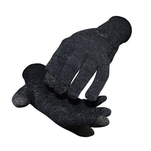 DeFeet DuraGlove ET (Electronic Touch) Charcoal Wool with Black Gloves