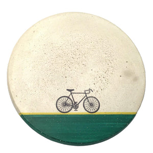 Concrete Wall Trivet - Bike (Green)