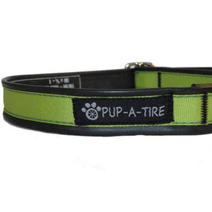 Green Dog Collar - Made With Recycled Bike Tubes - Small