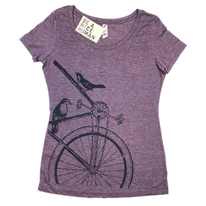 Sparrow Bike Women's Scoop Neck TShirt