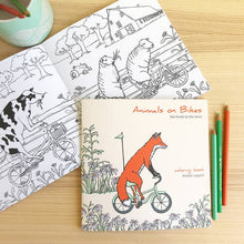 Animals on Bikes - The Forest to the Town Coloring Book