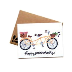 Happy Anniversary Bike Card