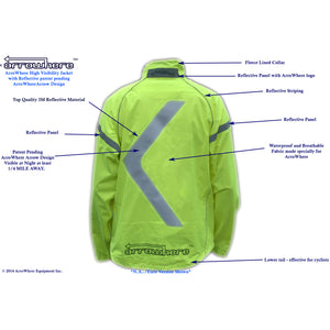 Men's ArroWhere Waterproof High Visibility Reflective Bicycling Jacket