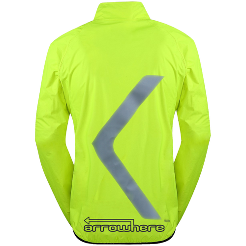 Men's ArroWhere Lightweight High Visibility Reflective Bicycling Jacket